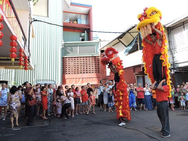 A 8 h 30, la danse du Lion aura lieu au siège de l'association Si Ni Tong, à Papeete