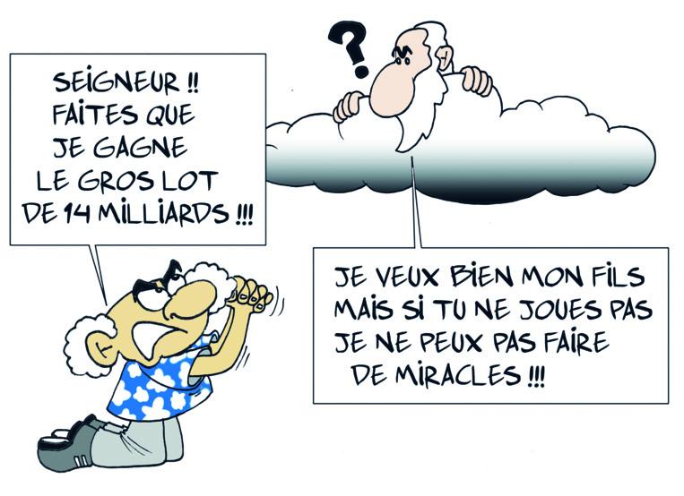 """ Jackpot exceptionnel Euromillions "" vu par Munoz"