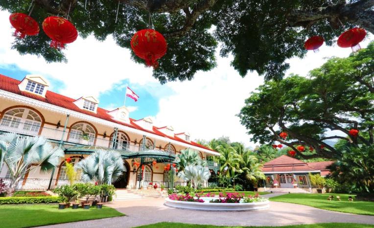 Les jardins de la présidence décorés pour le Nouvel An chinois