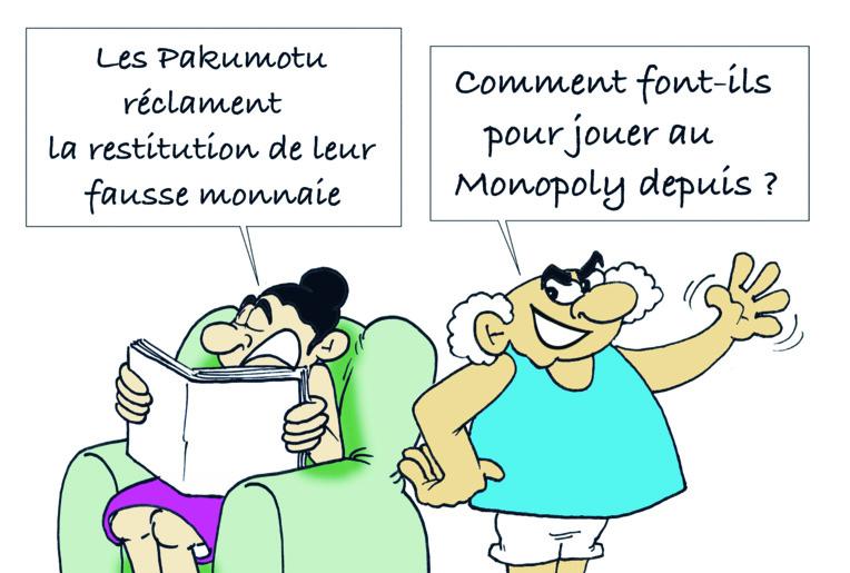 """"""" Les Pakumotu réclament la restitution de leur fausse monnaie """" par Munoz"""
