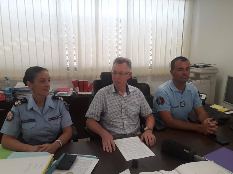 Le procureur de la République, Hervé Leroy (au centre), lors de la conférence de presse ce lundi 11 février.