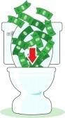 Un Ecossais jette aux toilettes des billets de banque qu'il pensait faux
