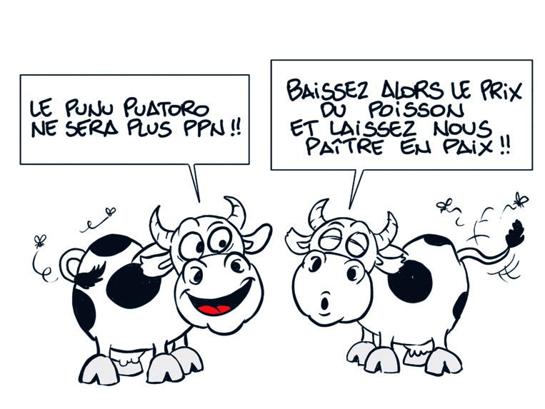 """"""" Le punu pua'atoro retiré des PPN """" vu par Munoz"""
