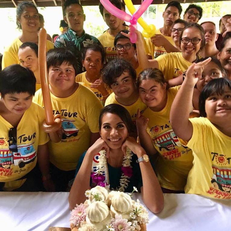 70 enfants étaient présents hier dans les jardins de l'assemblée de la Polynésie française.