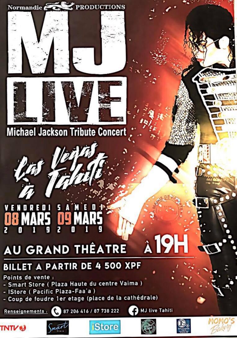 Mickaël Jackson Live, le show de Las Vegas à Tahiti