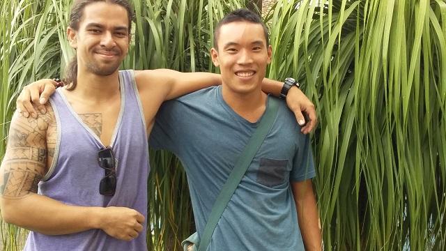 Maiti Tepa et Jason Man Sang, commenceront jeudi matin le tour de Tahiti à pied. Ils l'achèveront vendredi soir.
