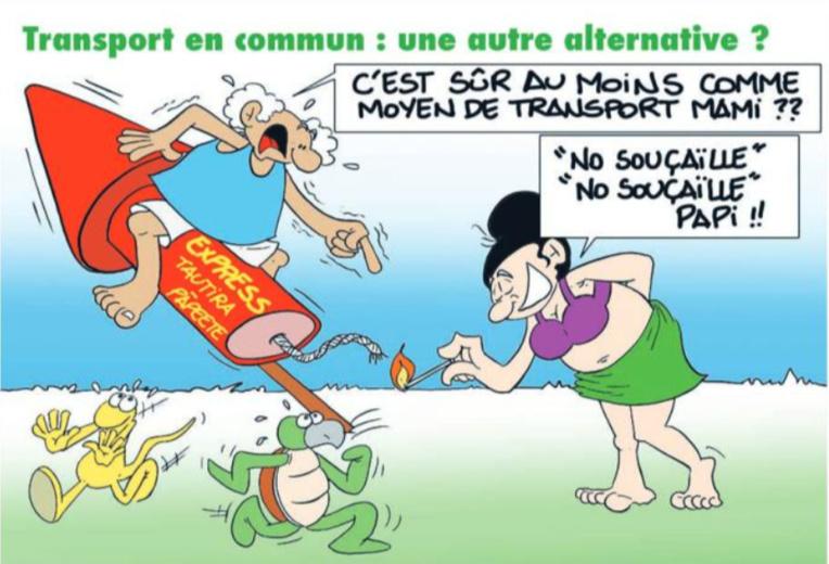 """"""" Transport en commun """" vu par Munoz"""