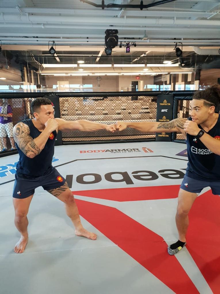 Teiva Jacquelain a pu s'entrainer à l'UFC Institute