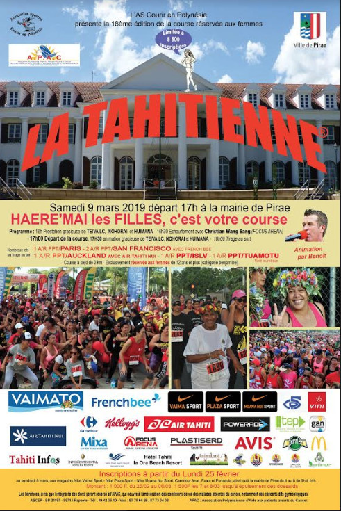 Course La Tahitienne® : circulation perturbée samedi à Pirae