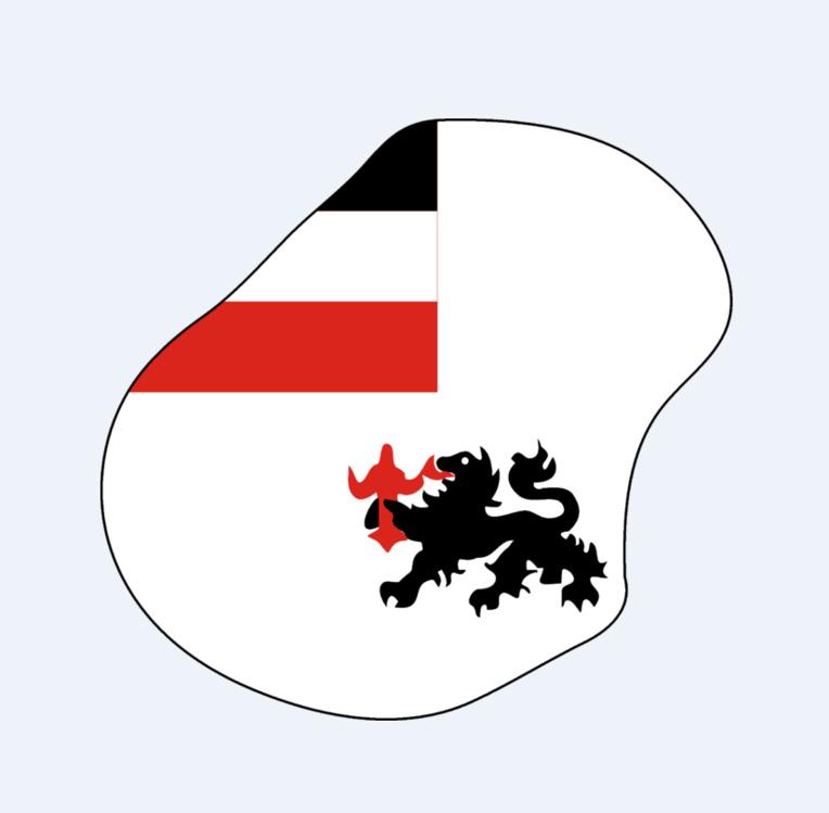 Le drapeau de Nauru sous le protectorat allemand.
