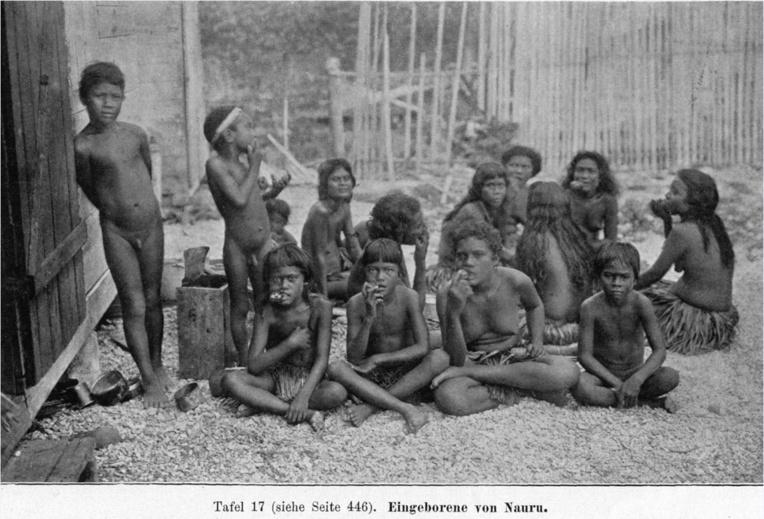 Très vite, les Allemands ouvrirent une petite école pour délivrer leur enseignement aux jeunes de Nauru.