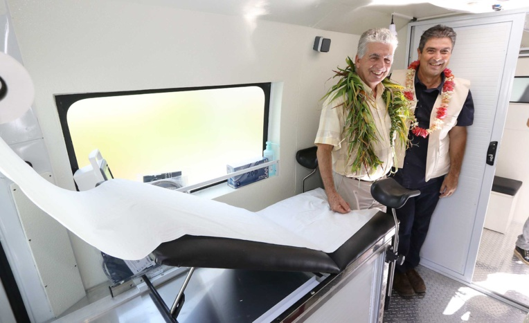 Un camion de consultation mobile pour les populations précaires