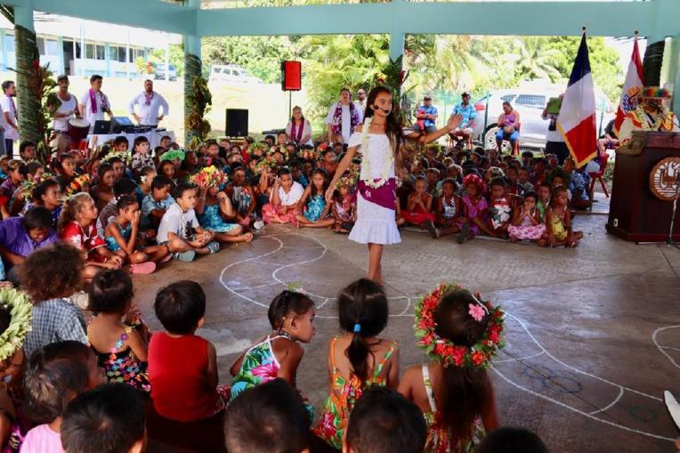 L'école primaire Hélène Auffray de Pueu reconstruite