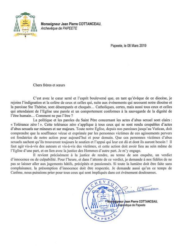 """Prêtre soupçonné d'agressions sexuelles : Mgr Cottanceau a """"le cœur serré et l'esprit bouleversé"""""""