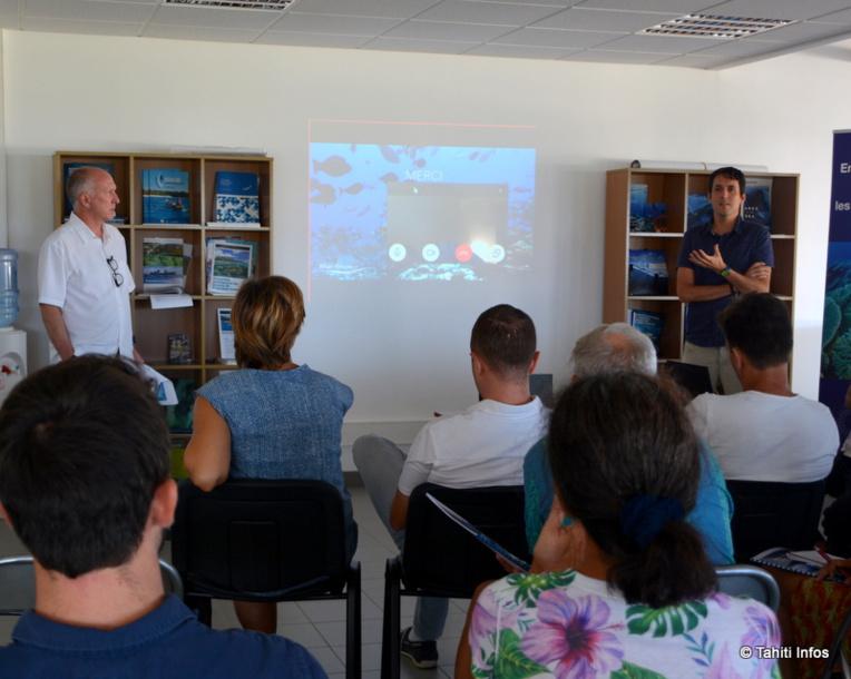 Nicolas Pascal (par Skype) et Greg Klassen, deux des trois rédacteurs de l'étude d'impact économique sur l'AMP des Australes, ont présenté leurs travaux jeudi dernier au grand public.