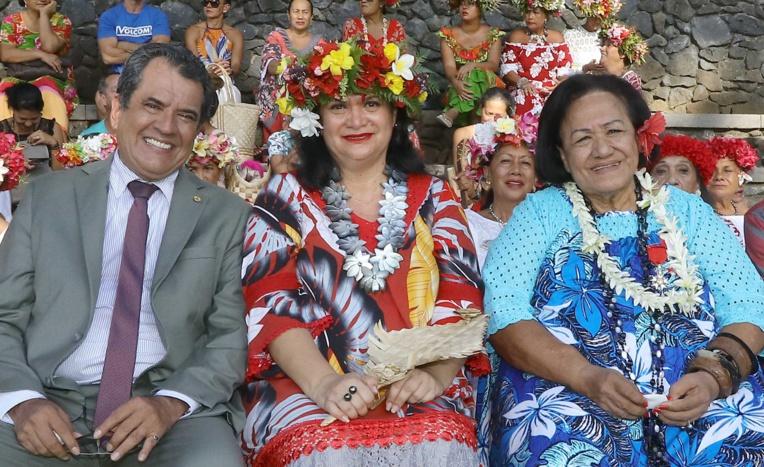Fauura Bouteau, chevalier dans l'ordre de Tahiti Nui