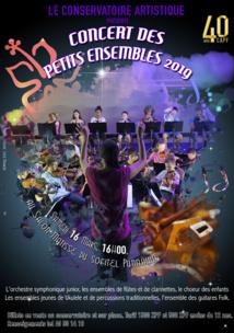 Concert des petits ensembles du conservatoire ce samedi
