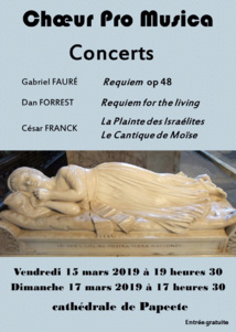 Le chœur Pro Musica chante ce week-end