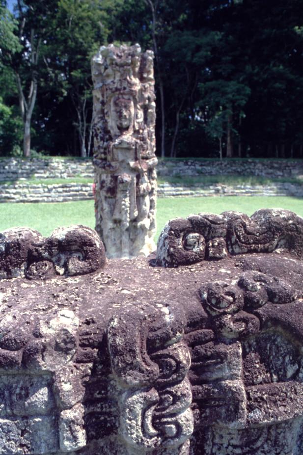 L'écriture dans la pierre était indubitablement omniprésente à Copan, ce qui laisse à penser que la ville comptait beaucoup d'érudits et de graveurs.