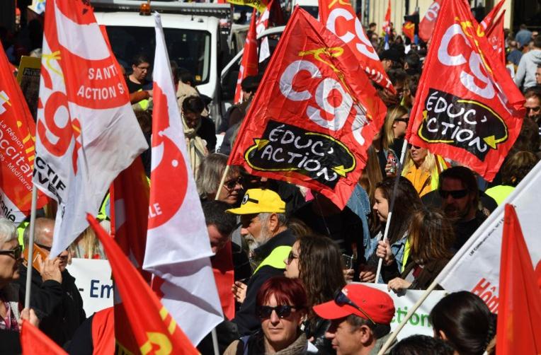 Appel CGT et FO: des dizaines de milliers de personnes dans la rue, dont de nombreux enseignants