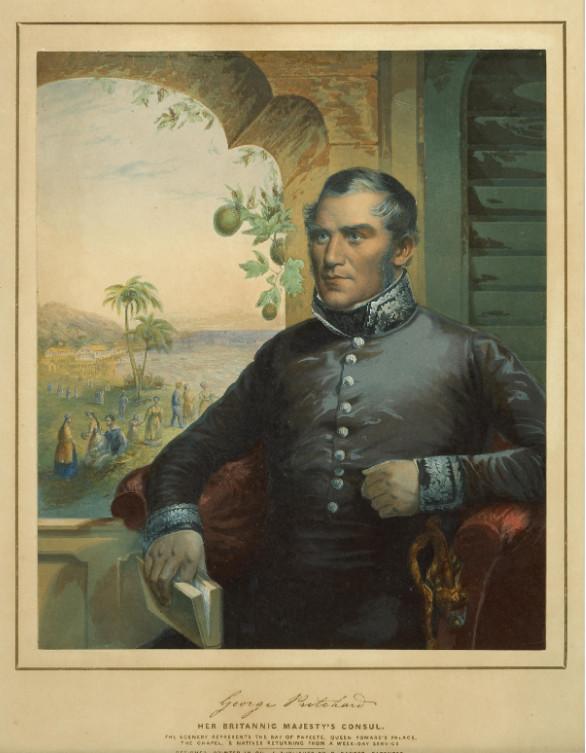 George Pritchard, consul britannique à Tahiti, fit tout ce qui était en son pouvoir pour que la Grande-Bretagne s'empare de Tahiti. Il finit par être expulsé.