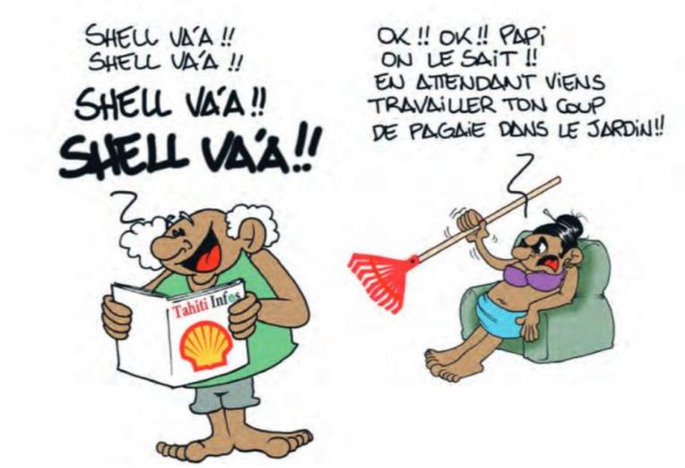 """"""" Marathon Polynésie la 1ère : Victoire de Shell Va'a """" vu par Munoz"""