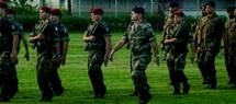 Le capitaine Mollet et son bataillon lors de l'inauguration des manœuvres Tafakula à Tonga, jeudi 11 août 2011 (Source photo : Gouvernement du royaume de Tonga).
