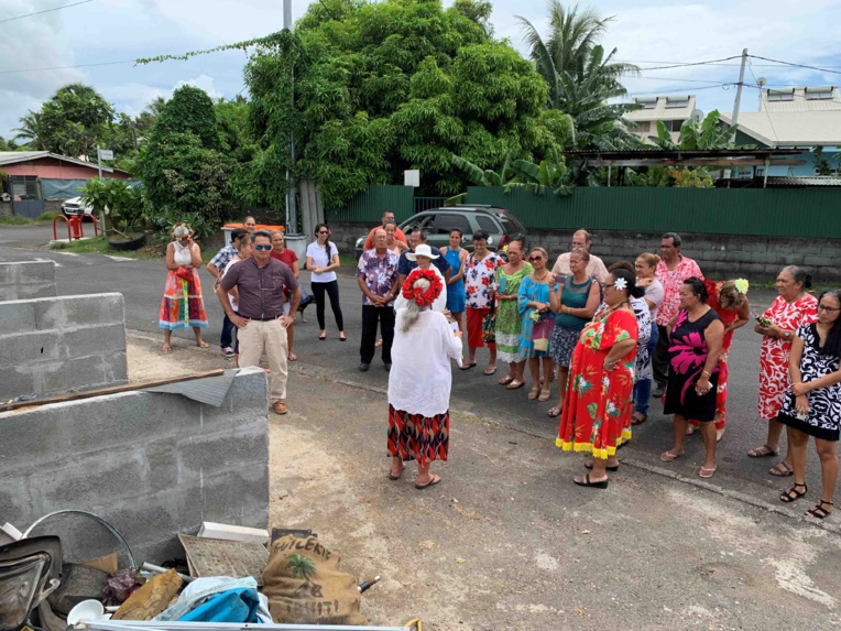 Les élus ont visité certains projets qui ont été réalisés, comme ce point d'apport volontaire du quartier Graffe.