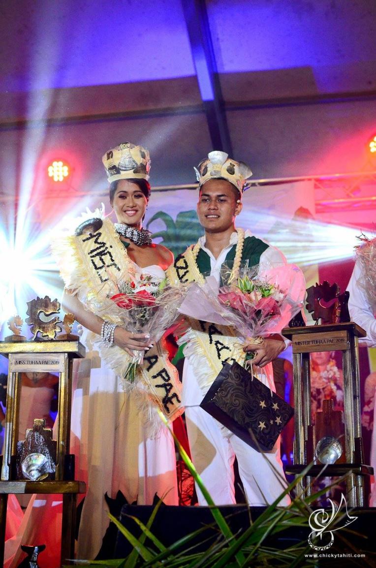 Lehani Fanaurai et Jordan Haatani ont été élus Miss et Mister Tuhaa Pae 2019.
