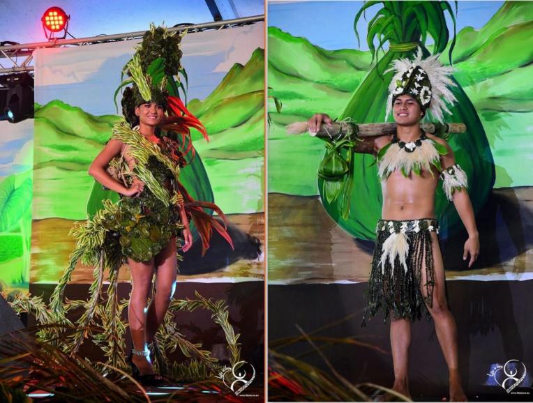 Mahera Iotua et Jordan Haatani ont remporté les prix du meilleur costume végétal.