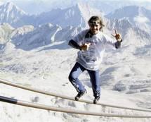 Le funambule suisse Freddy Nock renonce à traverser le lac de Thoune