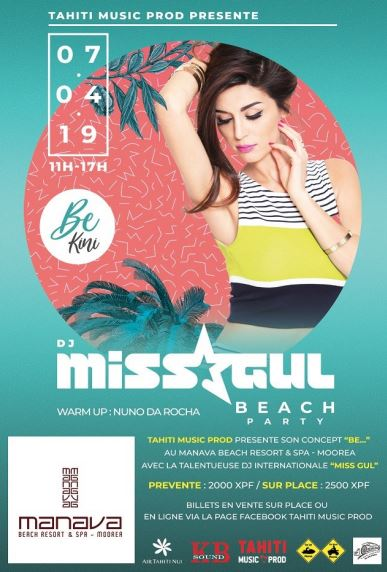 DJ Miss Gul va animer 3 soirées en Polynésie