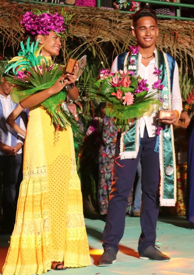 Wainona Teurua et Reiatua Teroroiria ont été élus 1ers dauphins.