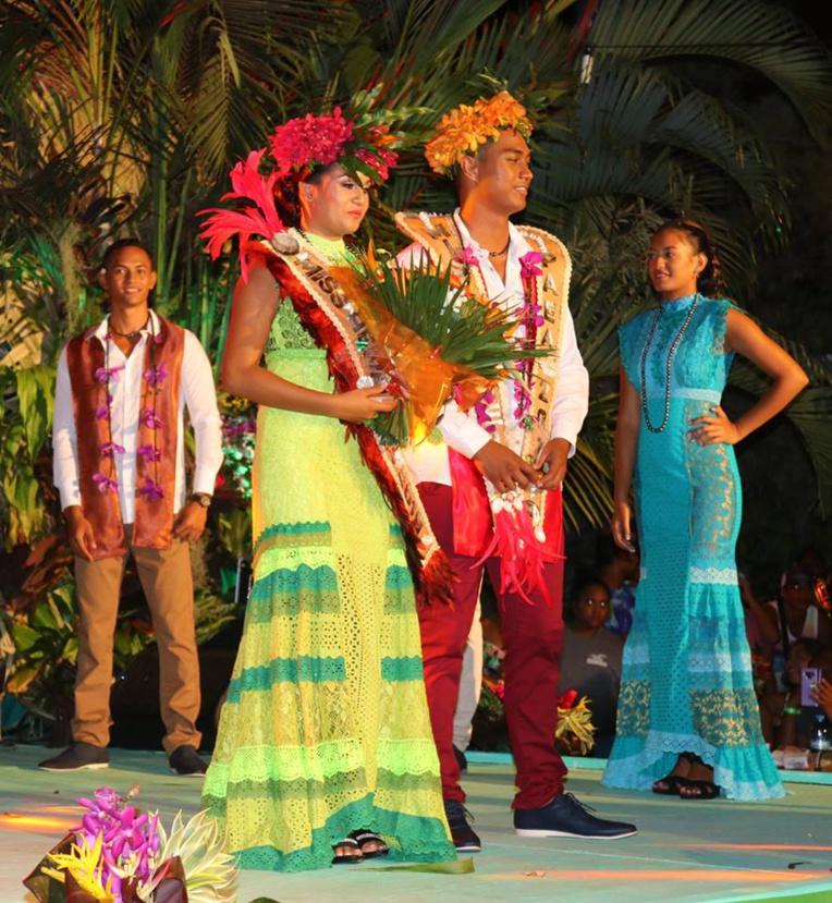 Hinenao Alvarez et Taihoarii Taki ont été élus Miss et Mister Heiva i Paea.
