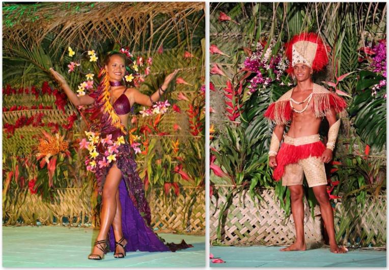 Les prix du meilleur costume végétal ont été attribués à Wainona Teurua et Teare Marakai.
