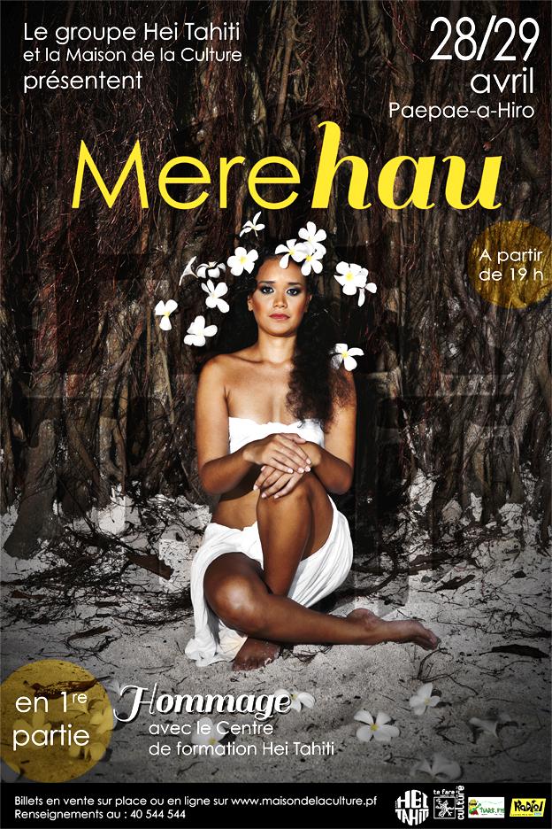 "Hei Tahiti présente ""Merehau"" sur le paepae a Hiro"