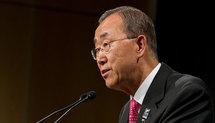 Ban Ki-Moon lors du Forum du Pacifique