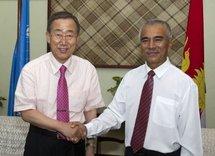 le Président de Kiribati, Anote Tong