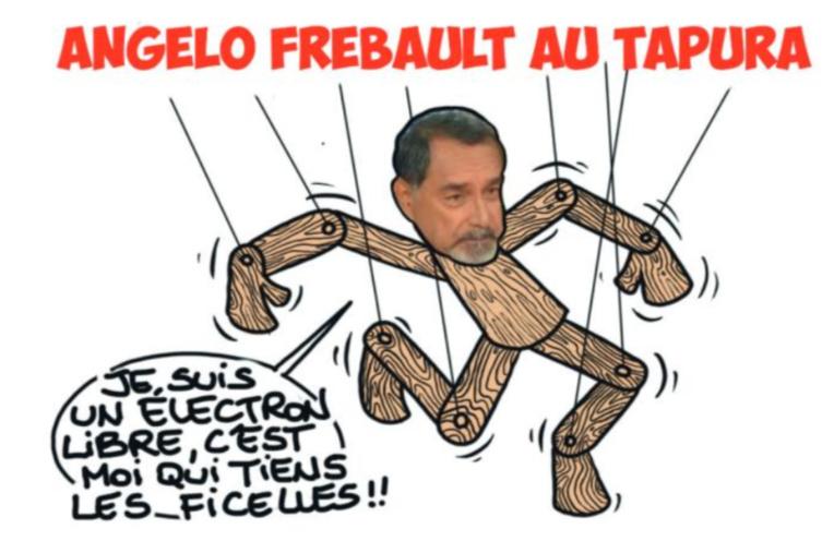 """ Angelo Frébault au Tapura "" vu par Munoz"