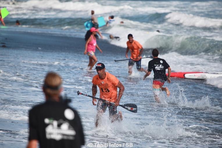 La course s'est terminée au sprint sur la plage