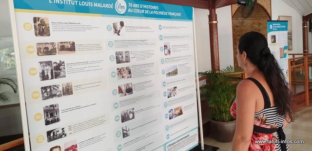 L'exposition sur les 70 ans de l'Institut Louis Malardé se tient jusqu'au 23 avril dans le hall de l'assemblée.