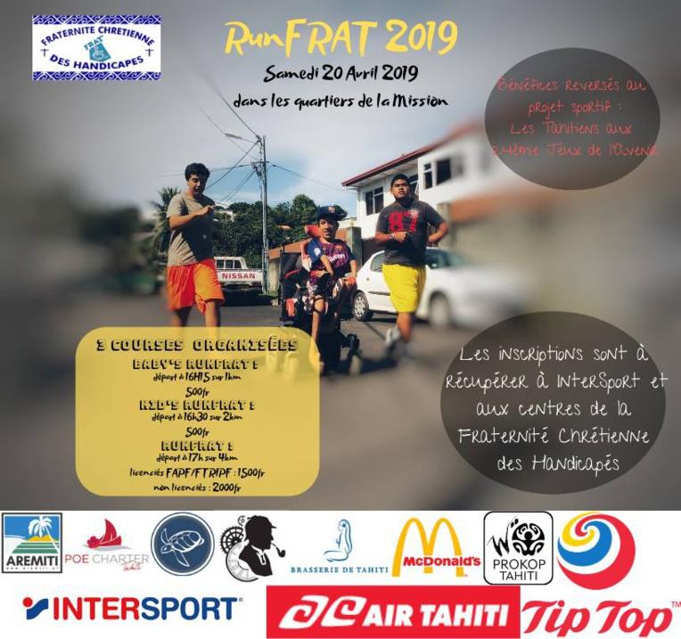 Course à pied – Run Frat : Du sport, des lots et de la solidarité