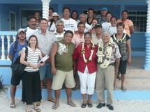 Le Ministre Temauri FOSTER a rencontré le tout nouveau collectif regroupant les représentants des ona grandes fermes perlières et de la population de Takaroa, avec la collaboration du Maire Teapehu TEAHE.J