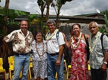 Inauguration du Centre d'accueil TURU MA à Papenoo