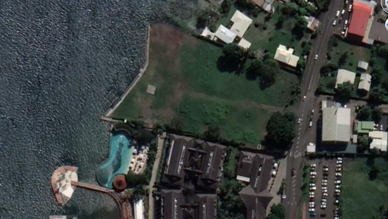 Le terrain de 9 000 m2 sur lequel aurait dû voir le jour, au PK 10 à Punaauia, le projet pour lequel  Tahiti Luxury Resort a béné ficié d'une aide locale en défiscalisation de près de 900 millions Fcfp.