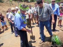 Inauguration des jardins partagés de Mamao Aivi