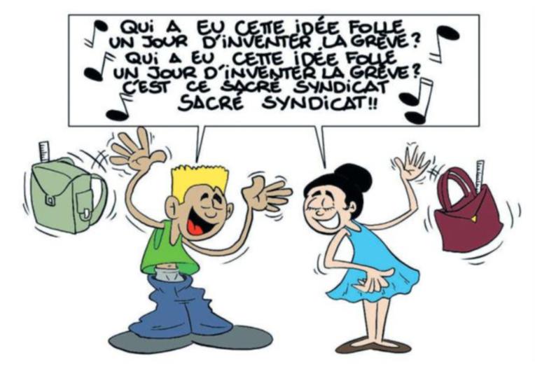 """"""" Marche ou grève (Bis...) """" par Munoz"""