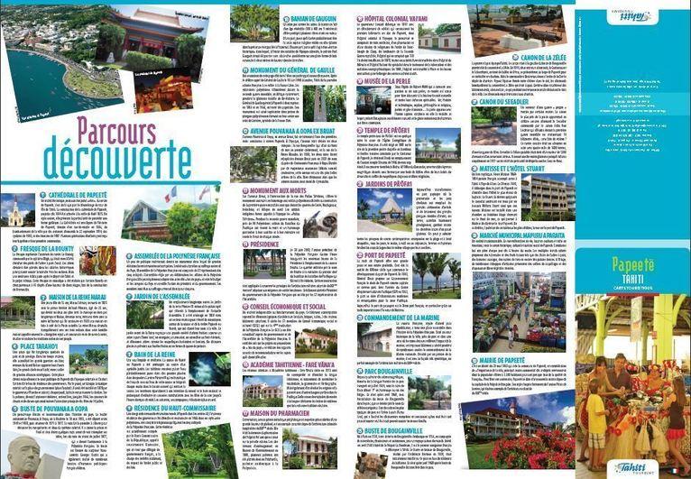 Un circuit touristique, sur carte interactive, pour visiter Papeete