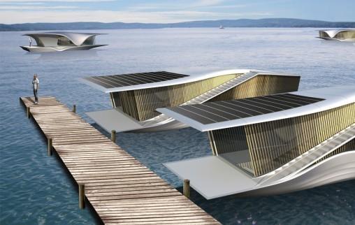 Les maisons flottantes, une solution pour s'adapter à la montée des eaux?