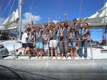 L'équipage de tara Ocean lors de son escale à Papeete le 15 août dernier
